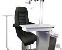 PRO 500 mit Komfort-Stuhl und optionalen Phoropterarm