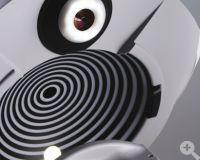 Patientenseitige Ansicht mit Non contact-Tonometer